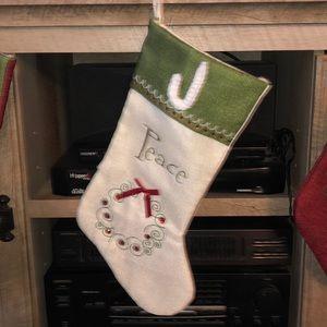 "Personalized ""J"" Christmas Stocking"